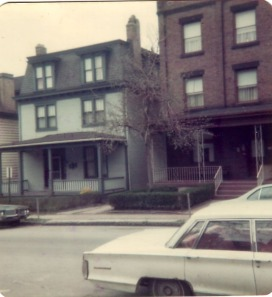 my first apartment (green house on left), 1974