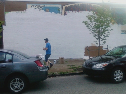 painting over old mural
