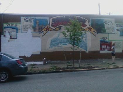 previous mural, corner of Greenwood and Chislett