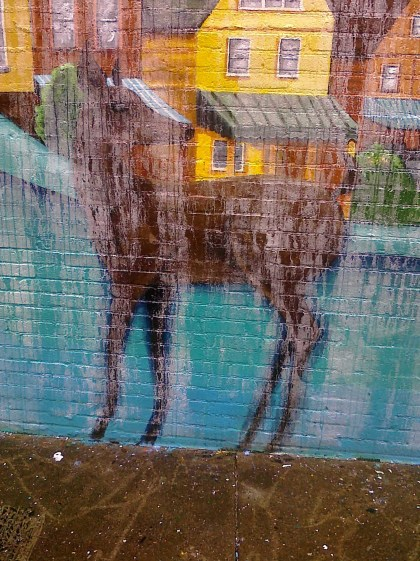 oh deer: the clear coat didn't have enough time to dry in crap weather
