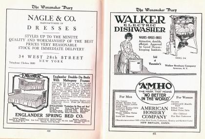 Advertisements, 1922