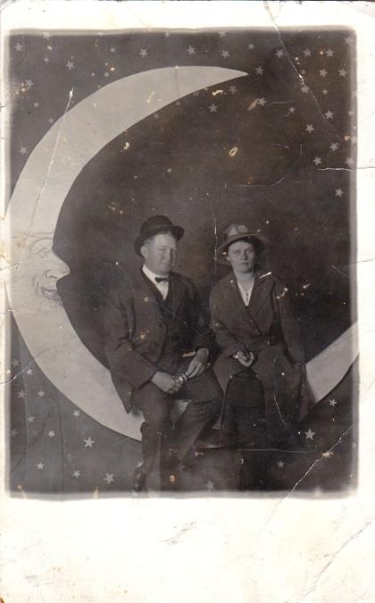 A stoic couple, 1910s.
