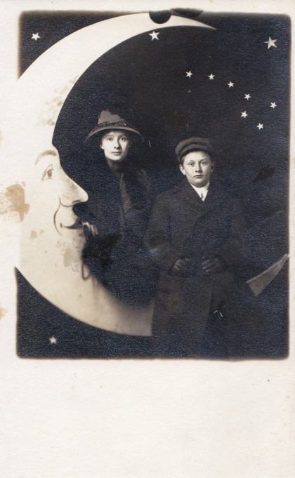 Edwardian mother and son. I love the moon's face on this one.