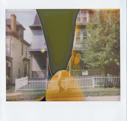 The Ghost on E. 9th Ave. Polaroid Spectra Softtone film, expired 2009,