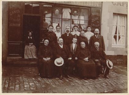 Lingerie shop, Paris, 1890s.